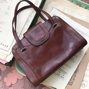 Monsac Brown Leather Handbag Purse